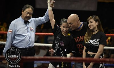 Tiebreaker Times Gretchen Abaniel, Gretel De Paz highlight women's boxing in Elorde Boxing News  Gretel dela Paz Grechen Abaniel Eranio Semilanio Elorde Boxing Cris Alfante Bakbakan sa Elorde Allen Vallespin