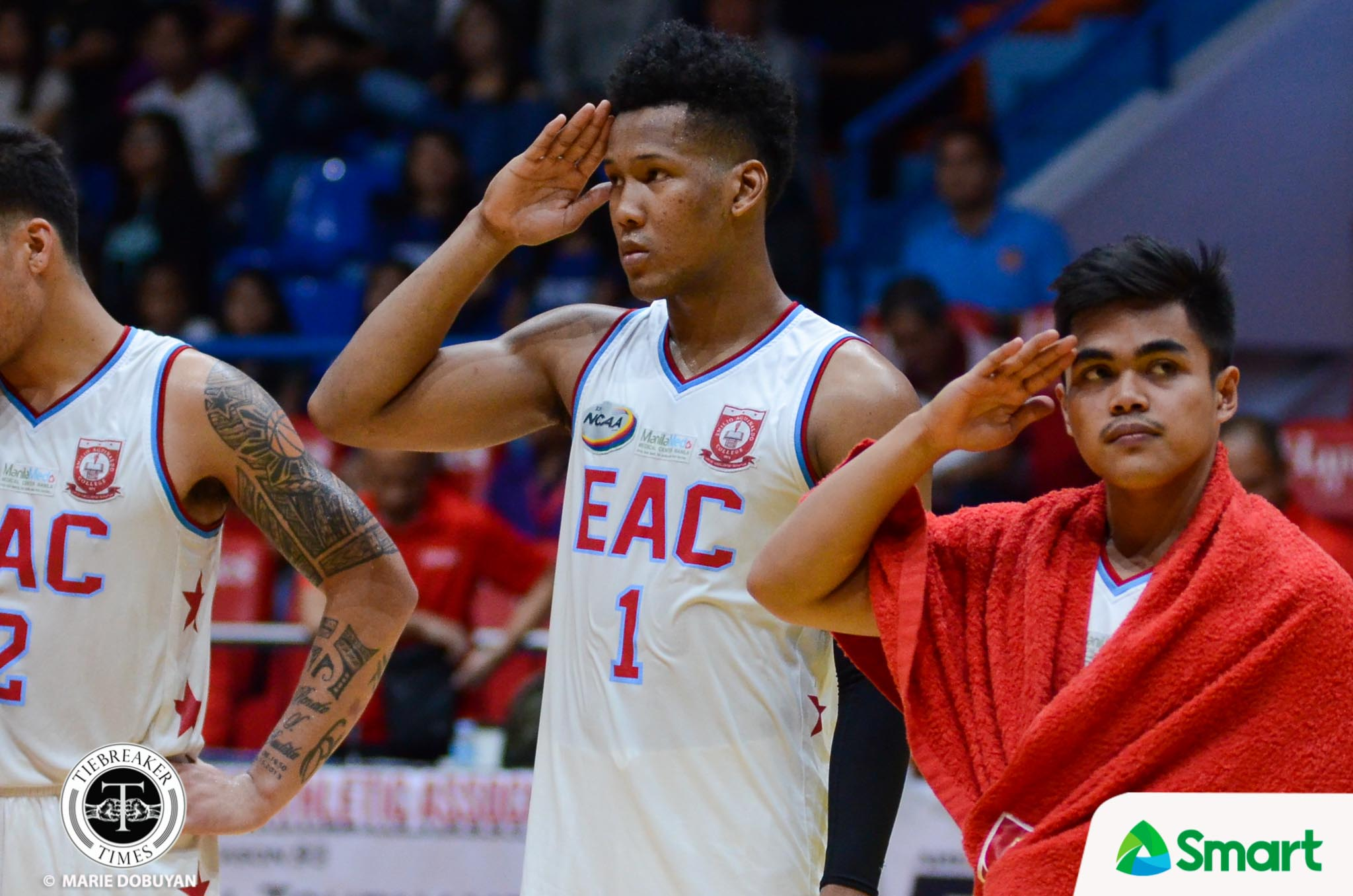 Philippine Sports News - Tiebreaker Times Sidney Onwubere savors final moment as a General Basketball EAC NCAA News  Sidney Onwubere NCAA Season 93 Seniors Basketball NCAA Season 93 EAC Seniors Basketball
