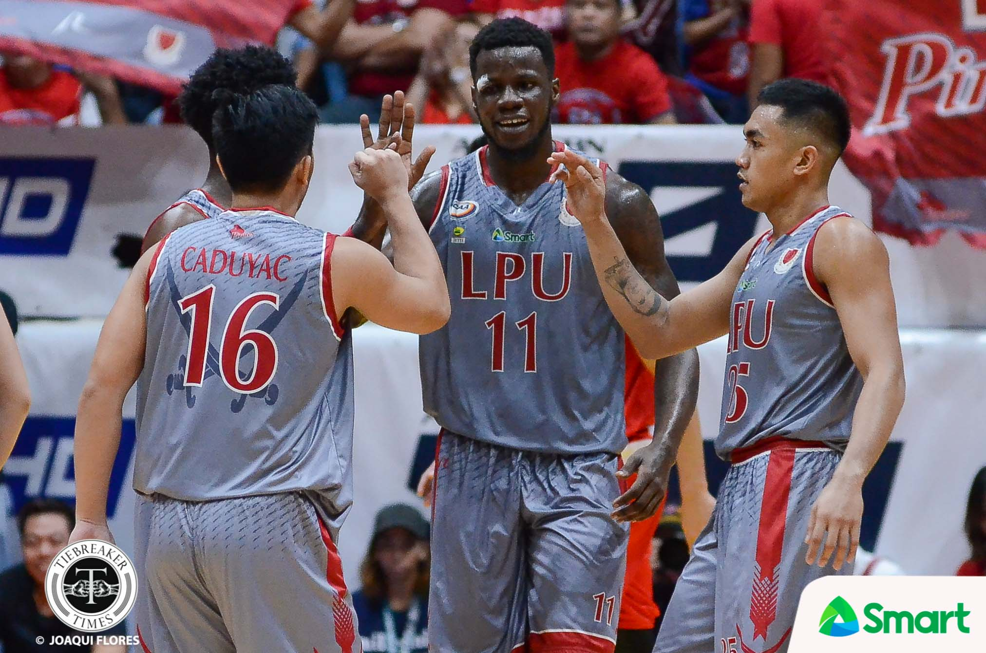Philippine Sports News - Tiebreaker Times Lyceum completes historic sweep to advance to Finals Basketball LPU NCAA News SBC  Topex Robinson San Beda Seniors Basketball Robert Bolick NCAA Season 93 Seniors Basketball NCAA Season 93 Mike Nzeusseu Lyceum Seniors Basketball Javee Mocon Donald Tankoua Clint Doliguez CJ Perez Boyet Fernandez