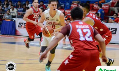 Tiebreaker Times Red Lions eliminate another one, devour Generals with 37-point rout Basketball EAC NCAA News SBC  Sidney Onwubere San Beda Seniors Basketball Robert Bolick NCAA Season 93 Seniors Basketball NCAA Season 93 Javee Mocon Franz Abuda EAC Seniors Basketball Donald Tankoua Ariel Sison AC Soberano
