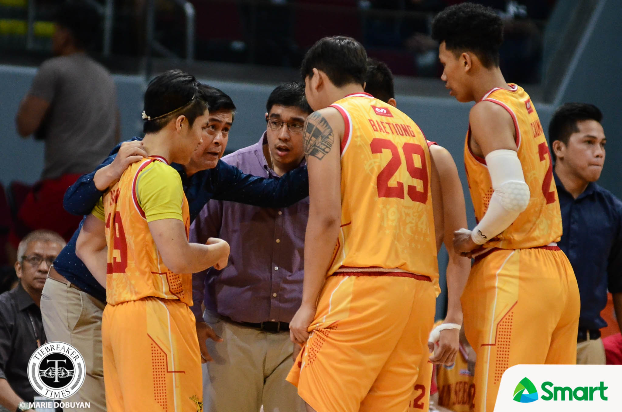Tiebreaker Times SOURCES: Exodus in San Sebastian Basketball NCAA News SSC-R  San Sebastian Seniors Basketball NCAA Season 94 Seniors Basketball NCAA Season 94 Mark Sangalang Justine Mercado Jerwyn Guinto Jayson David Alvin Baetiong Alfren Gayosa