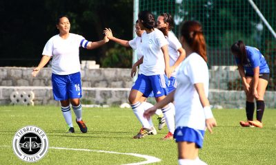 Tiebreaker Times PFFWL Roundup: TYFA, UP return in style with sweet victories FEU Football News PFF Women's League UP UST  Younghusband Football Academy FC Yanzie Yalong UST Women's Football UP Women's Football Shelah Mae Cadag OutKast FC Nina Yanto Mara Sabanal Krizha Guteza Joma Clemente Fuego Espanya FC FEU Women's Football Eloisa Malmis Charisa Lemoran BG Sta. Clara April Reyes 2016 PFF Women's League