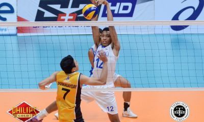 Tiebreaker Times Blue Eagles make short work of erring Tiger Spikers ADMU News PVL UST Volleyball  UST Men's Volleyball Ty Carodan Oliver Almadro Odjie Mamon Marck Espejo Manuel Sumanguid Ish Polvorosa Chumason Njigha Ateneo Men's Volleyball Arnold Bautista 2017 PVL Season 2017 PVL Men's Collegiate Conference