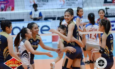 Tiebreaker Times Lady Bulldogs earn statement win in Game One against Lady Chiefs AU Basketball News NU  Risa Sato Regine Arocha Obet Javier NU Women's Volleyball Jasmine Nabor Jaja Santiago Gayle Valdez Babes Castillo Arellano Women's Volleyball Andrea Marzan 2017 PVL Women's Colelgiate Conference 2017 PVL Season