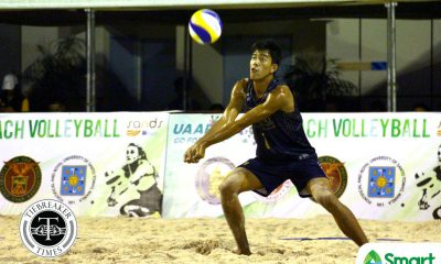 Tiebreaker Times Bulldogs claim top spot after Day Two ADMU AdU Beach Volleyball DLSU FEU News NU UAAP UE UP UST  Wendel Miguel UST Men's Volleyball UP Men's Volleyball UE Men's Volleyball UAAP Season 80 Men's Beach Volleyball UAAP Season 80 Richard Solis Paolo Pablico NU Men's Volleyball Niccolo Consuelo Marck Espejo Kris Roy Guzman Karl Baysa Jude Garcia JP Yude James Natividad FEU Men's Volleyball DLSU Men's Volleyball Bryan Bagunas Ateneo Men's Volleyball Anthony Arbasto Adamson Men's Volleyball