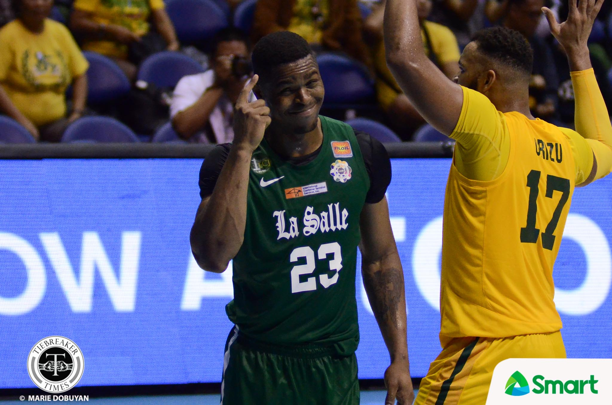 Philippine Sports News - Tiebreaker Times Ben Mbala shrugs off online outburst to impending second MVP Basketball DLSU News UAAP  UAAP Season 80 Men's Basketball UAAP Season 80 DLSU Men's Basketball Ben Mbala
