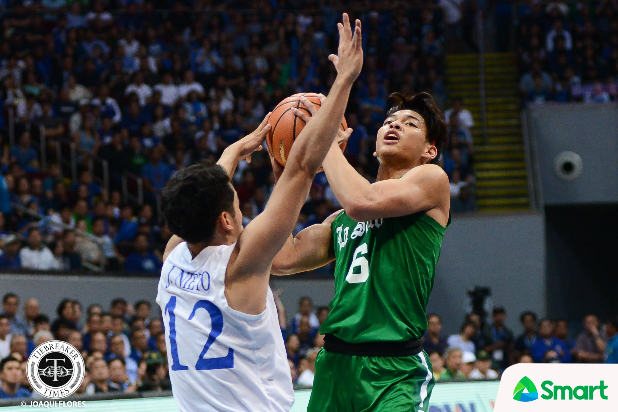 Philippine Sports News - Tiebreaker Times Ricci Rivero finds lost confidence despite loss to Ateneo Basketball DLSU News UAAP  UAAP Season 80 Men's Basketball UAAP Season 80 Ricci Rivero DLSU Men's Basketball