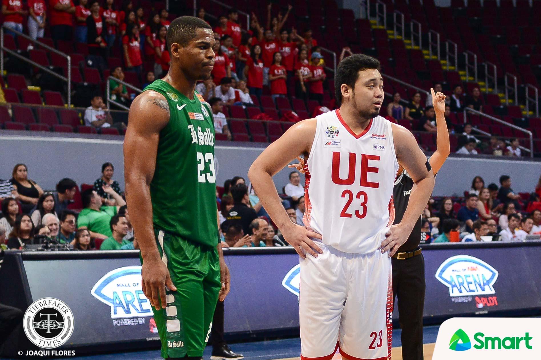 Philippine Sports News - Tiebreaker Times Alvin Pasaol holds head up high after surviving Ben Mbala Basketball News UAAP UE  UE Men's Basketball UAAP Season 80 Men's Basketball UAAP Season 80 Alvin Pasaol