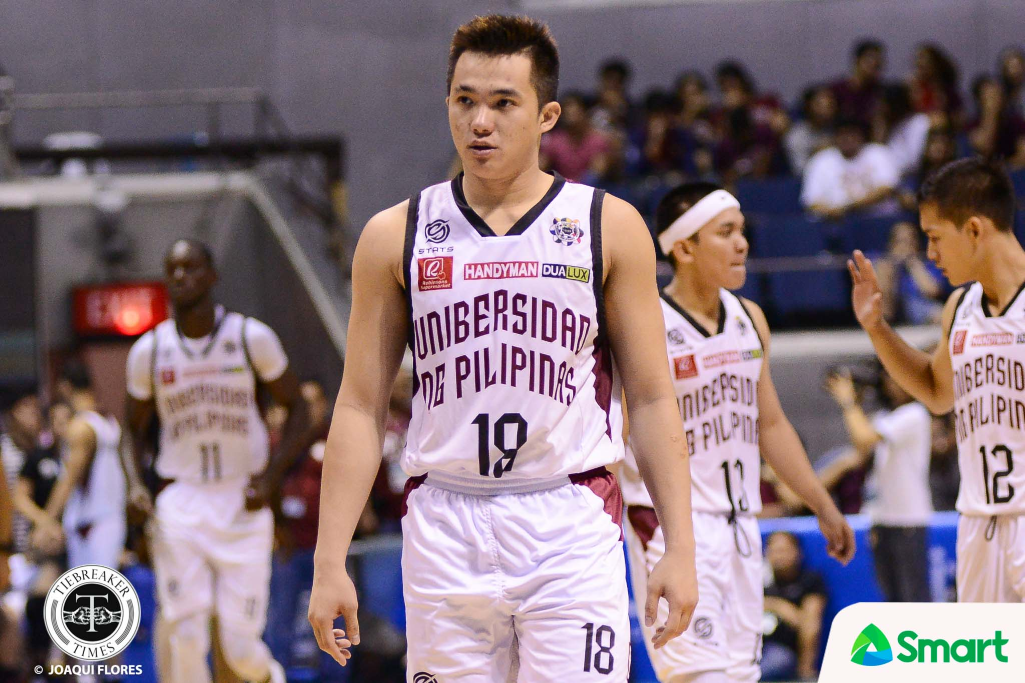 Philippine Sports News - Tiebreaker Times Paul Desiderio no longer surprised with Ron Dennison's defensive prowess Basketball News UAAP UP  UP Men's Volleyball UAAP Season 80 Men's Basketball UAAP Season 80 Ron Dennison Paul Desiderio