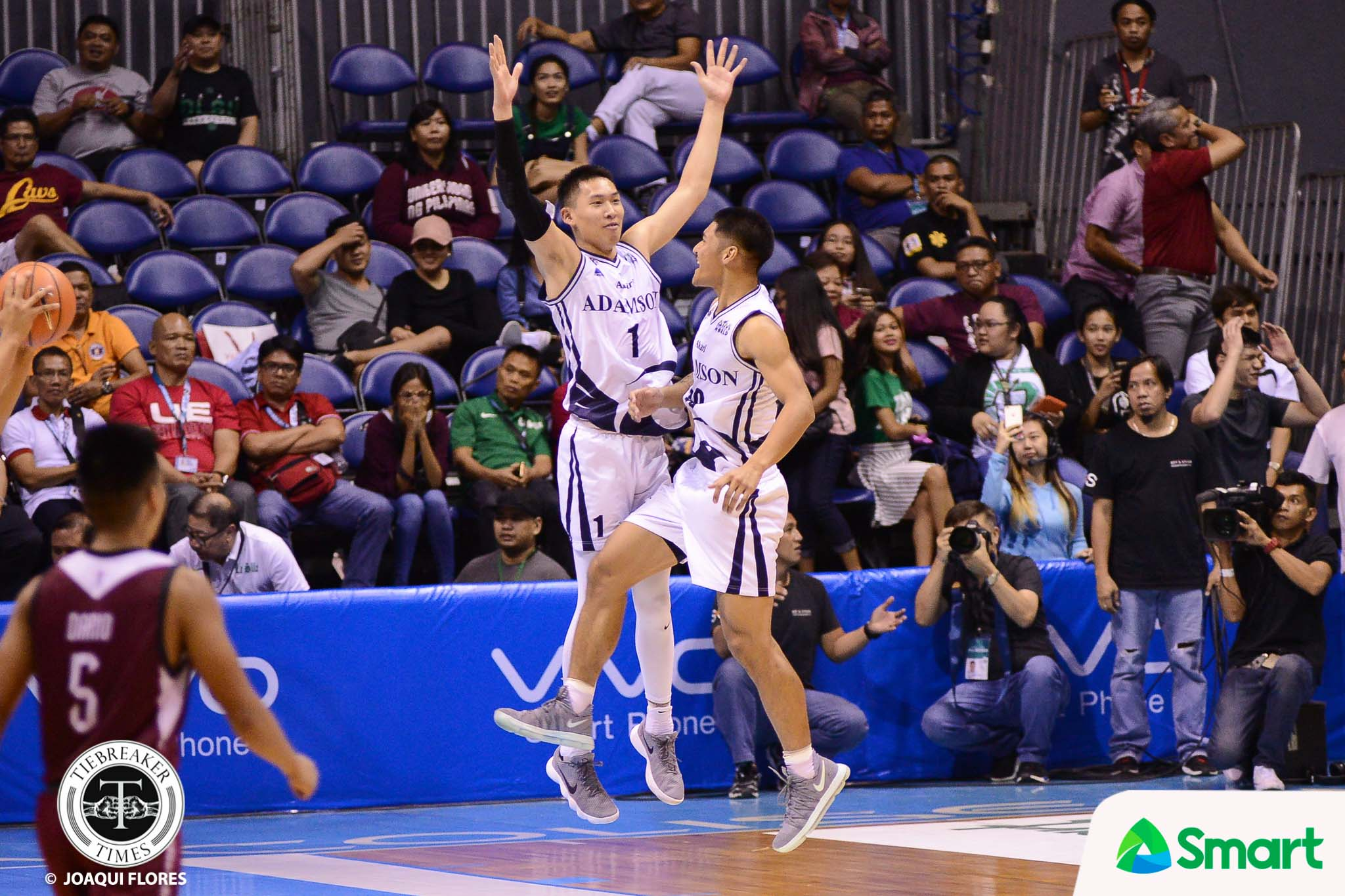Philippine Sports News - Tiebreaker Times Sean Manganti cleans up for Papi Sarr: 'I'm glad I was there to save us' AdU Basketball News UAAP  UAAP Season 80 Men's Basketball UAAP Season 80 Sean Manganti Franz Pumaren Adamson Men's Basketball