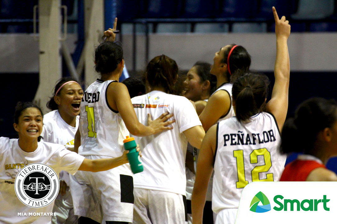 Philippine Sports News - Tiebreaker Times Bets Peñaflor, Anjel Anies lead UST comeback to stun UE, gain solo second Basketball News UAAP UE UST  UST Women's Basketball UE Women's Basketball UAAP Season 80 Women's Basketball UAAP Season 80 Sai Larosa Love Sto. Domingo Haydee Ong Bienca Ramos Bets Penaflor Anjel Anies Aileen Lebornio