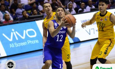 Tiebreaker Times Ateneo locks FEU down late to clinch Final Four spot ADMU Basketball FEU News UAAP  UAAP Season 80 Men's Basketball UAAP Season 80 Tab Baldwin Ron Dennison Raffy Verano Olsen Racela Matt Nieto FEU Men's Basketball Ateneo Men's Basketball Arvin Tolentino