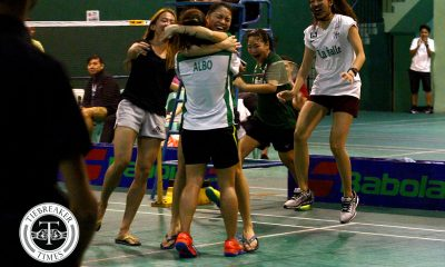 Tiebreaker Times Nicole Albo, La Salle advance to finals; Bianca Carlos finishes Ateneo career undefeated ADMU Badminton DLSU News UAAP  UAAP Season 80 Women's Badminton UAAP Season 80 Owen Lopez Nicole Albo Kennie Asuncion Isay Leonardo DLSU Women's Badminton Chanelle Lunod Bianca Carlos Ateneo Women's Badminton Arianne Rivera