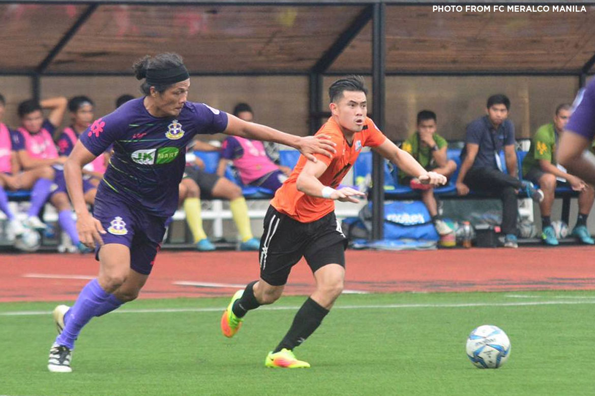 Philippine Sports News - Tiebreaker Times Meralco seals second seed, eliminates JP Voltes from contention Football News PFL  JP Voltes-Marikina FC FC Meralco Manila Dan pADER Aris Caslib Ali Mahmoud 2017 PFL Season
