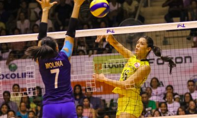 Tiebreaker Times F2 Logistics dispels Petron in heated Bacolod encounter News PSL Volleyball  Shaq delos Santos Ramil De Jesus Petron Blaze Spikers Maria Jose Perez Lindsay Stalzer Kim Fajardo Kennedy Bryan Hillary Hurley F2 Logistics Cargo Movers Dawn Macandili Chooks-to-Go 2017 PSL Season 2017 PSL Grand Prix