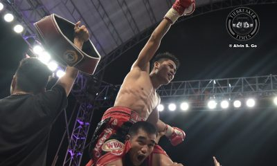 Tiebreaker Times Mark Magsayo retains WBO International crown in homecoming Boxing News  Pinoy Pride 43 Mark Magsayo Jeo Santisima Albert Pagara ALA Promotions