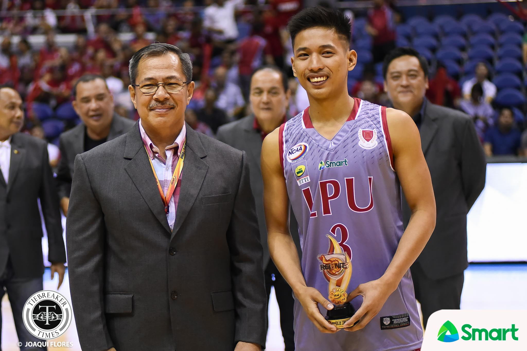 Philippine Sports News - Tiebreaker Times Surprise visit from mother inspires top rookie Jaycee Marcelino Basketball LPU NCAA News  NCAA Season 93 Seniors Basketball NCAA Season 93 Lyceum Seniors Basketball Jaycee Marcelino