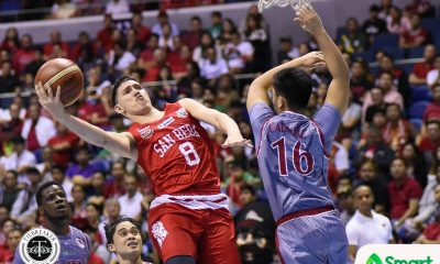 Tiebreaker Times San Beda hands Lyceum first loss to take Game 1 Basketball LPU NCAA News SBC  Topex Robinson San Beda Seniors Basketball NCAA Season 93 Seniors Basketball NCAA Season 93 MJ Ayaay Mike Nzeusseu Lyceum Seniors Basketball Javee Mocon Donald Tankoua Davon Potts CJ Perez Boyet Fernandez
