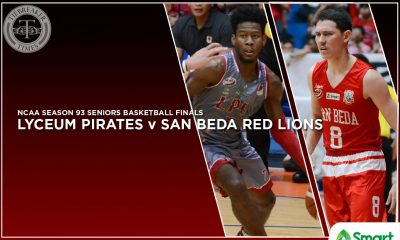 Tiebreaker Times The Irresistible Force versus the Immovable Object Basketball LPU NCAA News SBC  Topex Robinson San Beda Seniors Basketball Robert Bolick NCAA Season 93 Seniors Basketball NCAA Season 93 MJ Ayaay Lyceum Seniors Basketball Davon Potts CJ Perez