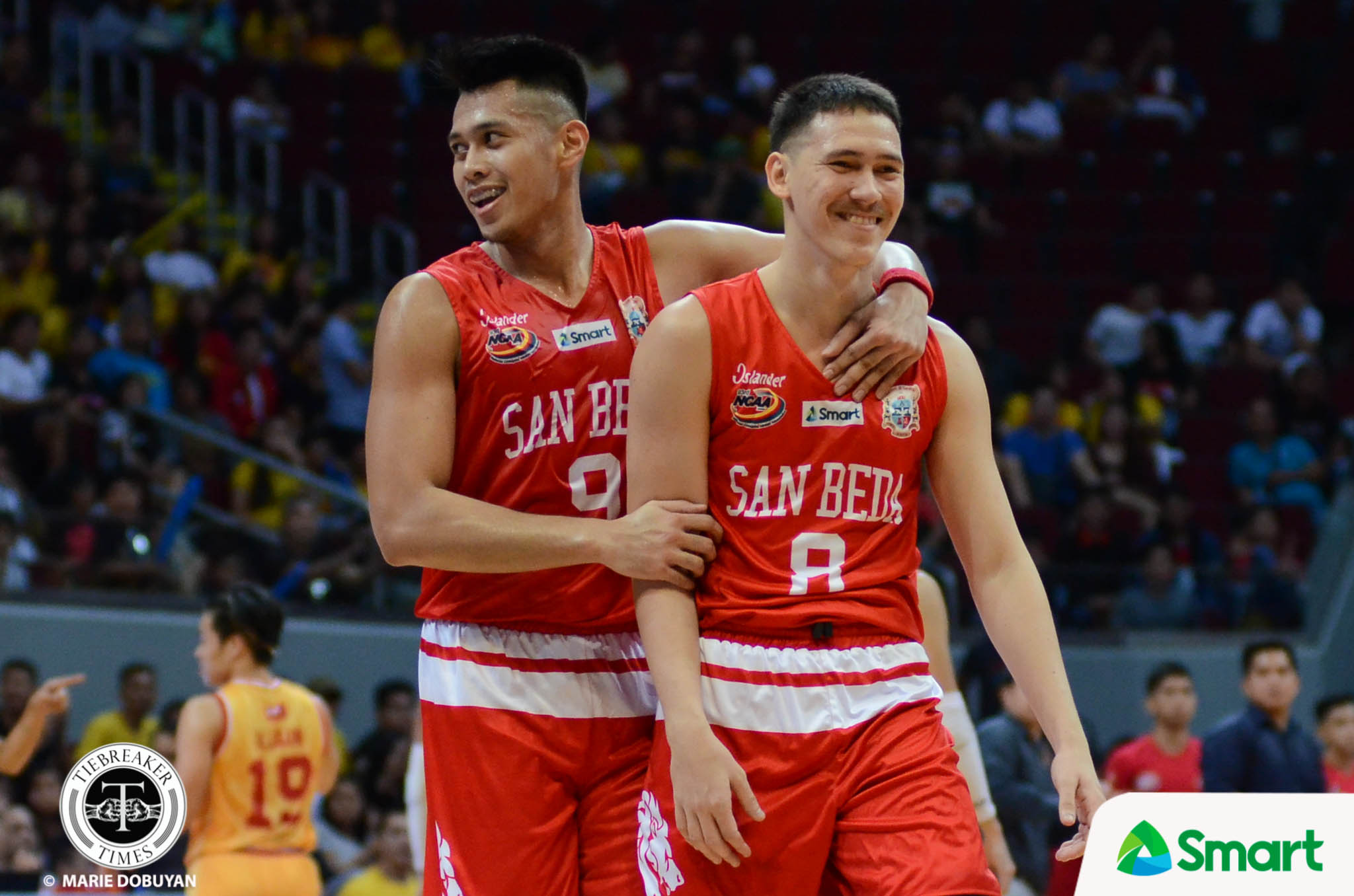 Philippine Sports News - Tiebreaker Times San Beda advances to 12th straight Finals Basketball NCAA News SBC SSC-R  San Sebastian Seniors Basketball San Beda Seniors Basketball Ryan Costelo Robert Bolick NCAA Season 93 Seniors Basketball NCAA Season 93 Michael Calisaan Jayson David Javee Mocon Egay Macaraya Donald Tankoua Boyet Fernandez