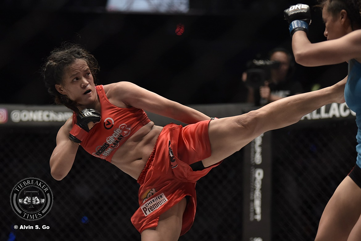 Philippine Sports News - Tiebreaker Times Gina Iniong learns from loss to Mei Yamaguchi as she takes on Jenny Huang Mixed Martial Arts News ONE Championship  Team Lakay ONE: Heroes of Honor Gina Iniong