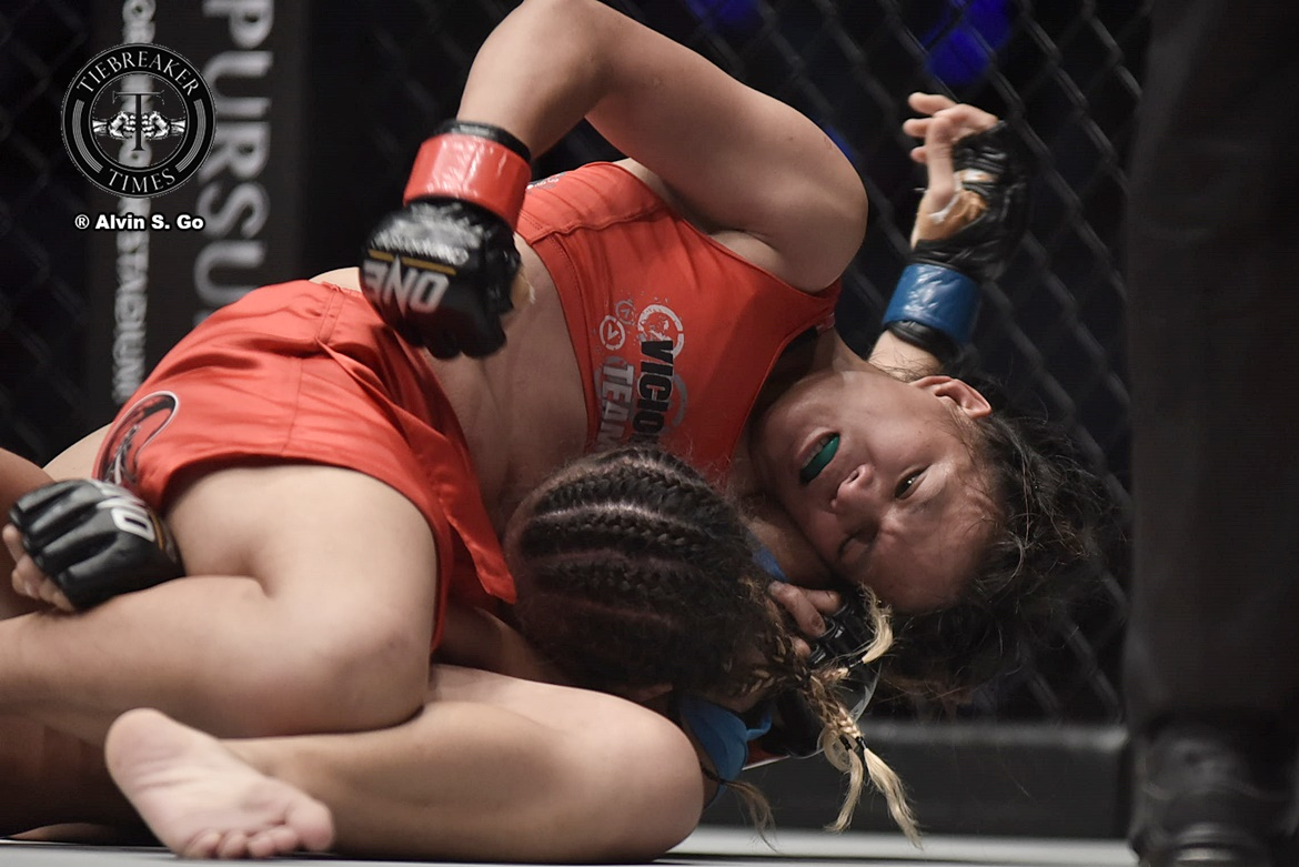 Philippine Sports News - Tiebreaker Times Gina Iniong gets opportunity to replace Angela Lee in Singapore card Mixed Martial Arts News ONE Championship  Team Lakay ONE: Legends of the World ONE: Immortal Pursuit Mei Yamaguchi Gina Iniong