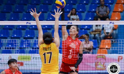 Tiebreaker Times Iriga City breaks losing slump, keeps Victoria Sports-UST struggling News PSL UST Volleyball  Victoria Sports-UST Tigresses UST Women's Volleyball Tamara Kmezic Shyrra Cabriana Saam Miyagawa Paul Dolorias Parley Tupas Minami Yoshioka Mary Pacres Iriga City Lady Oragons Carla Sandoval 2017 PSL Season 2017 PSL Grand Prix