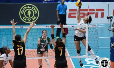 Tiebreaker Times Sta. Lucia earns first win, keeps UST struggling News PSL UST Volleyball  Victoria Sports-UST Tigresses UST Women's Volleyball Sta. Lucia Lady Realtors Rebecca Rivera Paul Jan Dolorian Pam Lastimosa Mary Pacres Kristen Moncks Jerry Yee Chooks-to-Go Carla Sandoval Bohdana Anisova 2017 PSL Season 2017 PSL Grand Prix