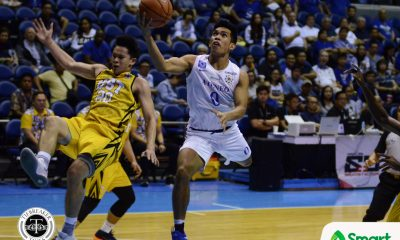Tiebreaker Times Thirdy Ravena's post-dunk celebration was for dad ADMU Basketball News UAAP  UAAP Season 80 Men's Basketball UAAP Season 80 Thirdy Ravena Sandy Arespacochaga Ateneo Men's Basketball
