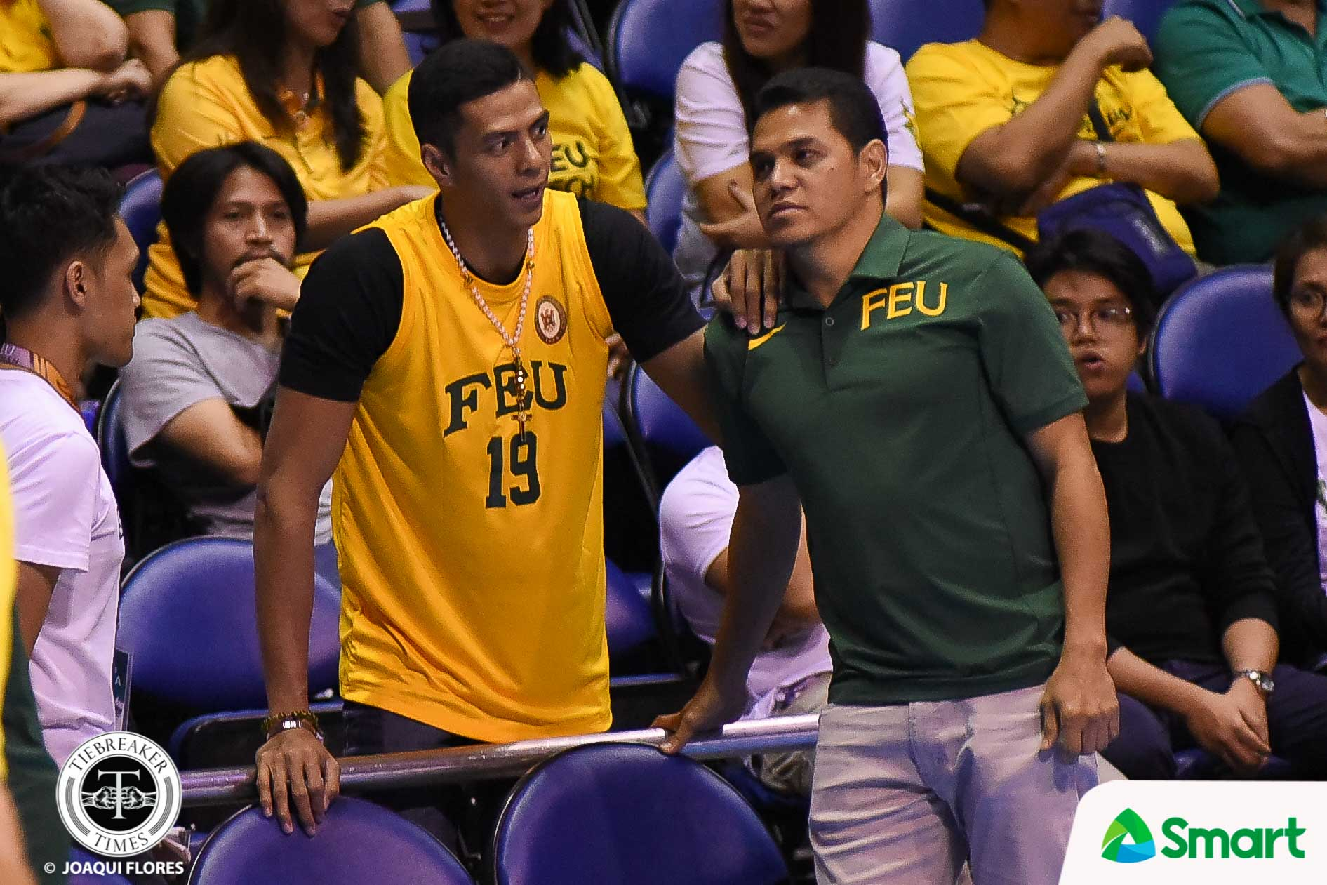 Philippine Sports News - Tiebreaker Times Arwind Santos continues to give back to FEU Basketball FEU News UAAP  UAAP Season 80 Men's Basketball UAAP Season 80 FEU Men's Basketball Arwind Santos Arvin Tolentino