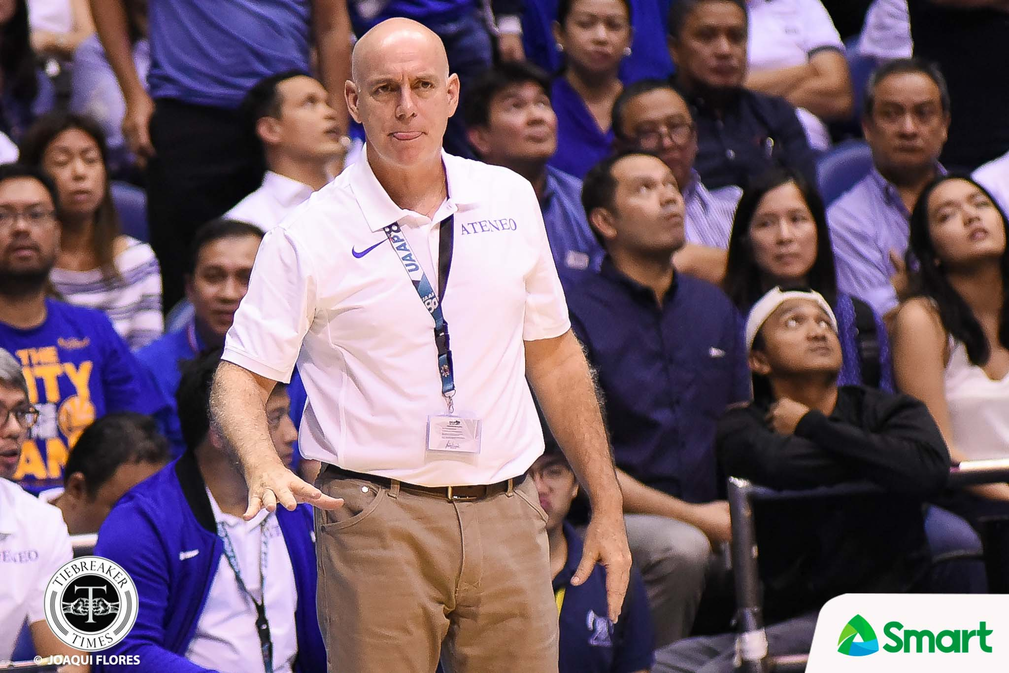 Philippine Sports News - Tiebreaker Times With momentum on La Salle's side, Tab Baldwin makes sure Ateneo forgets about Game 2 ADMU Basketball News UAAP  UAAP Season 80 Men's Basketball UAAP Season 80 Tab Baldwin Ateneo Men's Basketball