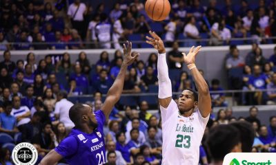 Tiebreaker Times Chooks/SMART Player of the Week Ben Mbala spoils Ateneo's outright Finals bid Basketball DLSU News UAAP  UAAP Season 80 Men's Basketball UAAP Season 80 UAAP Player of the Week Steve Akomo Paul Desiderio DLSU Men's Basketball Chooks-to-Go Ben Mbala Arvin Tolentino