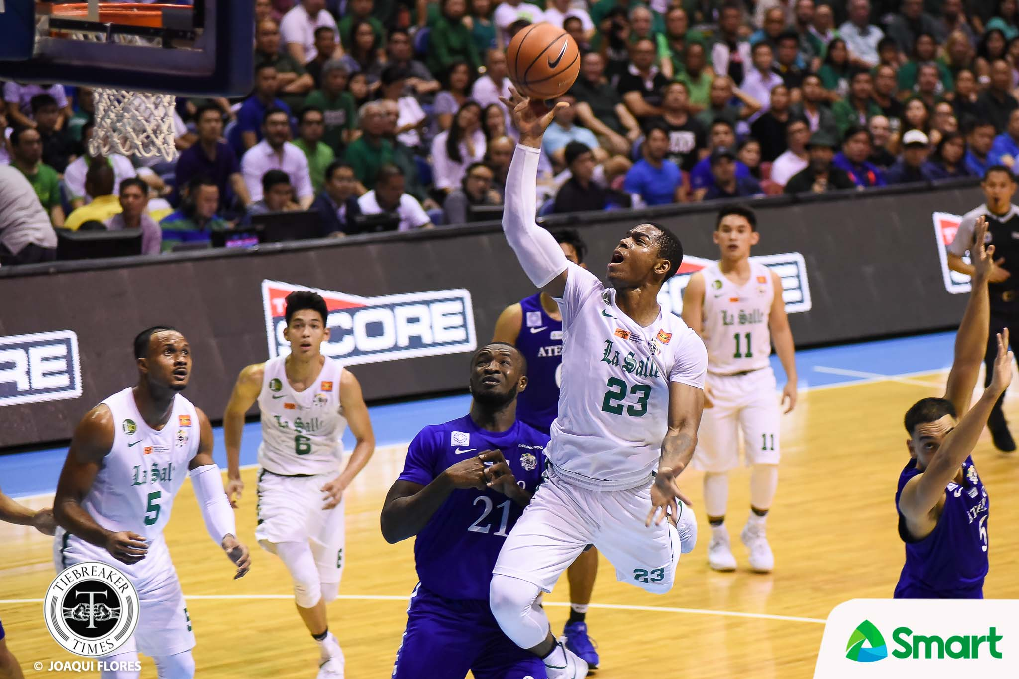 Philippine Sports News - Tiebreaker Times Ben Mbala on recovery against Isaac Go: 'Never quit on defense' Basketball DLSU News UAAP  UAAP Season 80 Men's Basketball UAAP Season 80 DLSU Men's Basketball Ben Mbala Aldin Ayo