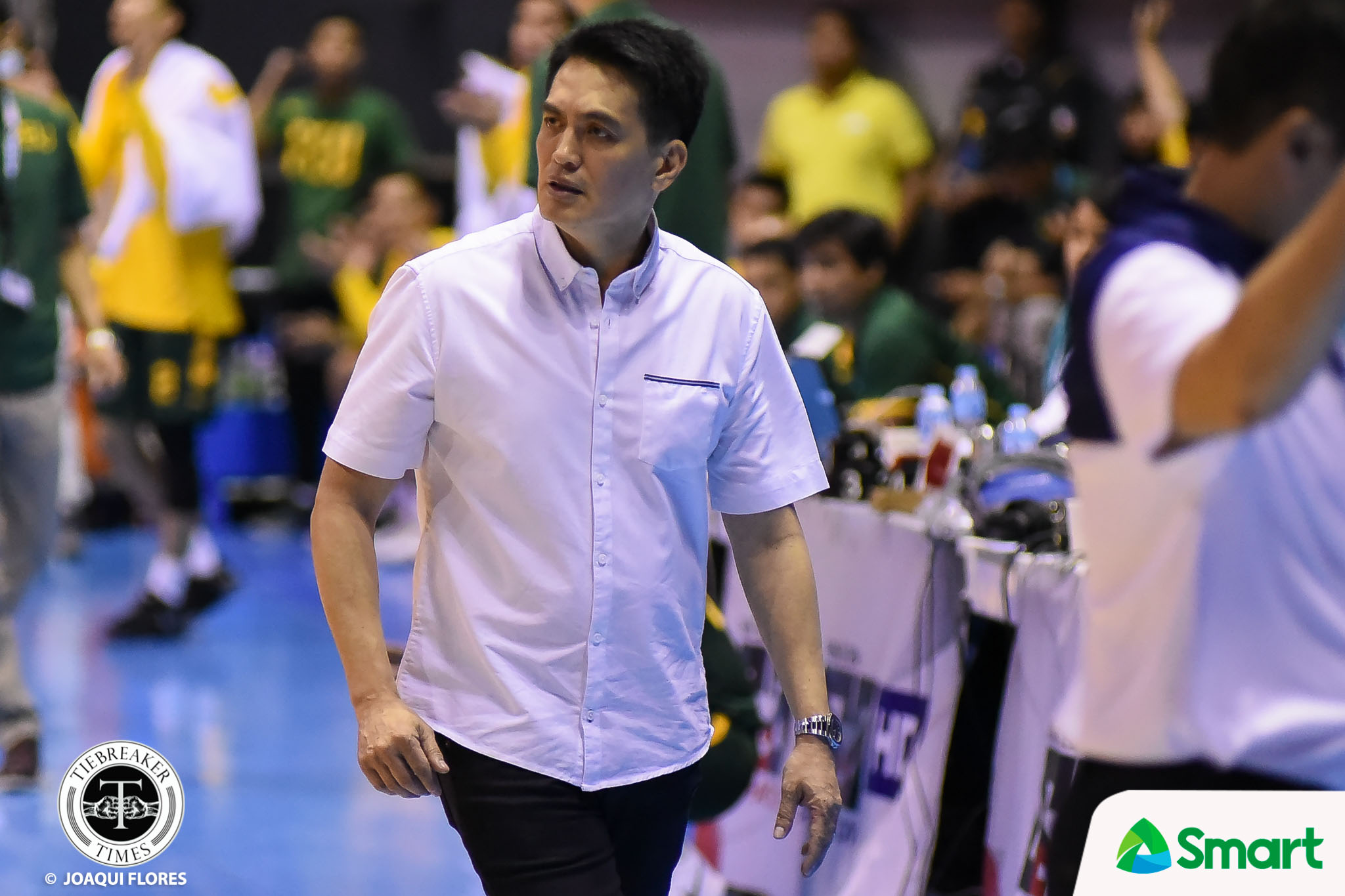 Philippine Sports News - Tiebreaker Times Franz Pumaren keeps mum on Tyrus Hill, Kurt Lojera transfers: 'You ask them' AdU Basketball News PBA D-League  Franz Pumaren Akari-Adamson Soaring Falcons 2018 PBA D-League Season 2018 PBA D-League Aspirants Cup