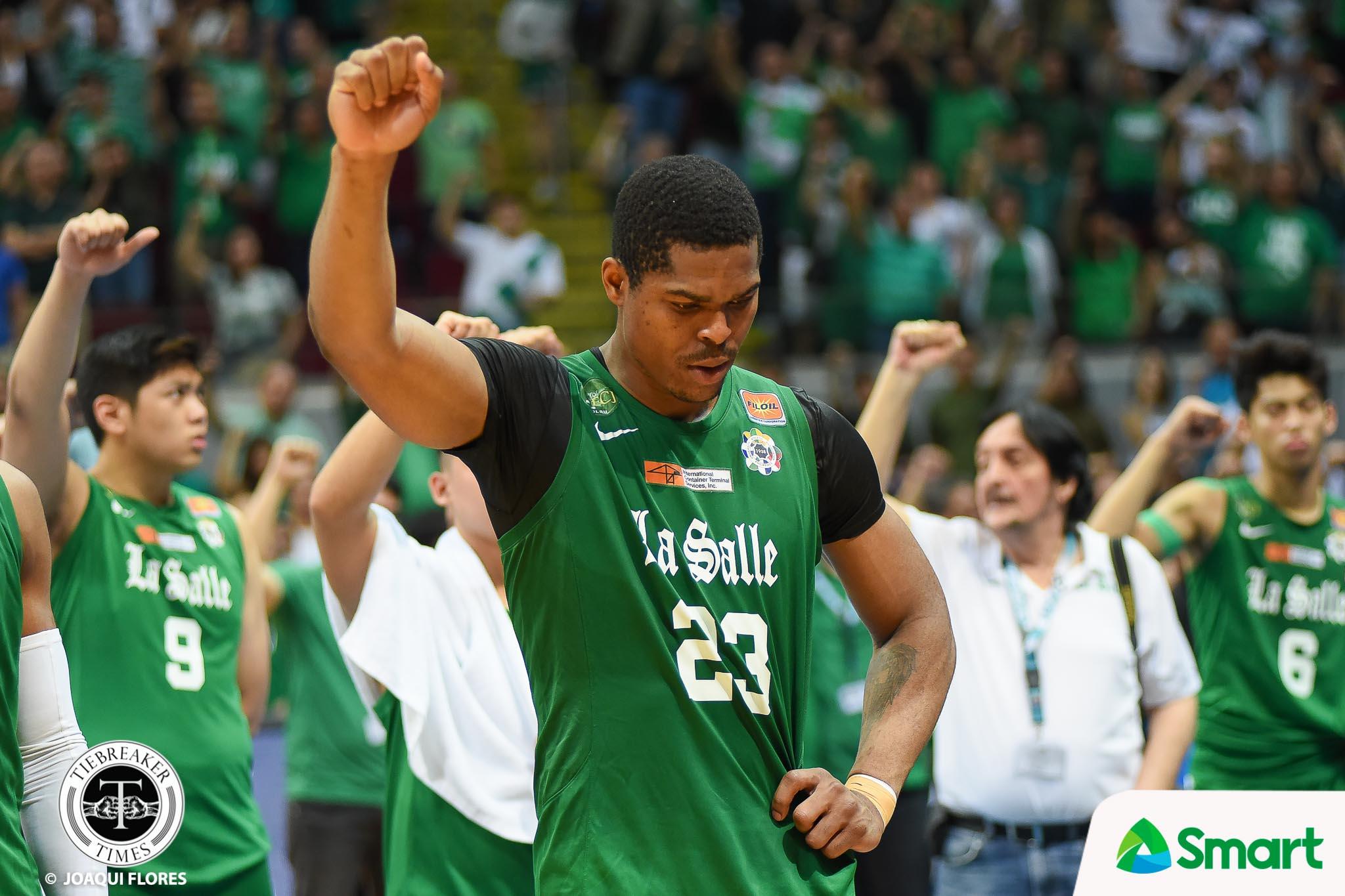 Philippine Sports News - Tiebreaker Times Ben Mbala bids La Salle farewell, turns pro Basketball DLSU News UAAP  UAAP Season 81 Men's Basketball UAAP Season 81 DLSU Men's Basketball Ben Mbala
