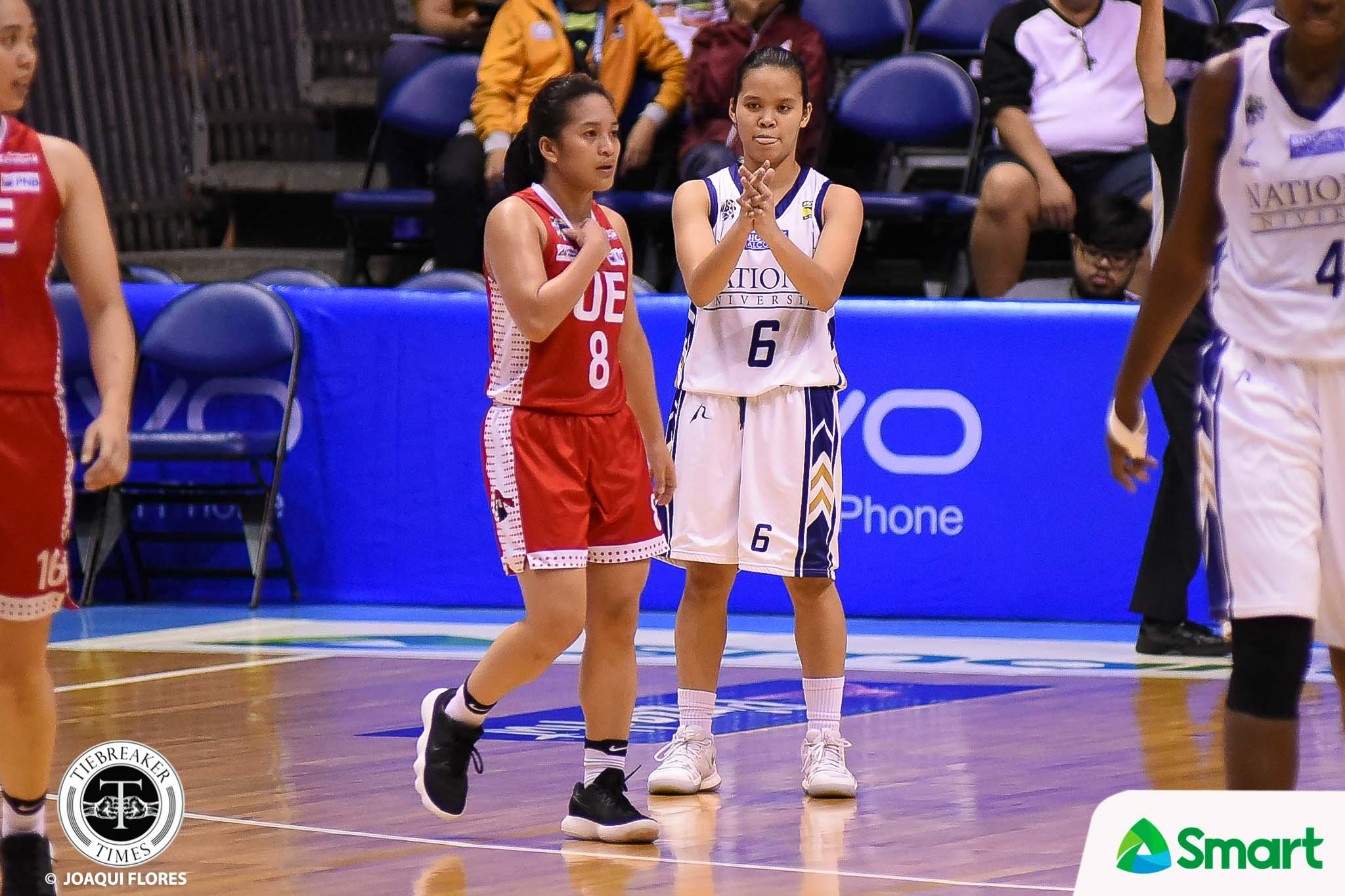 Philippine Sports News - Tiebreaker Times Trixie Antiquera goes all out in Game 1 Basketball News NU UAAP  UAAP Season 80 Women's Basketball UAAP Season 80 Trixie Antiquera Patrick Aquino NU Women's Basketball