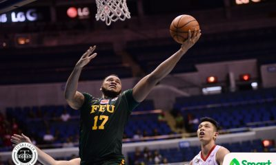 Tiebreaker Times FEU arrests two-game skid, ends UE's playoff hopes Basketball FEU News UAAP UE  UE Men's Basketball UAAP Season 80 Men's Basketball UAAP Season 80 Prince Orizu Olsen Racela Mark Olayon Jasper Parker FEU Men's Basketball Derrick Pumaren Arvin Tolentino Alvin Pasaol