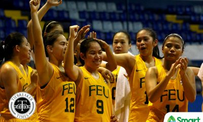 Tiebreaker Times FEU outlasts La Salle in overtime to book last playoff ticket Basketball DLSU FEU News UAAP  UAAP Season 80 Women's Basketball UAAP Season 80 Princess Jumuad Precious Arellado Khate Castillo FEU Women's Basketball DLSU Women's Basketball Cholo Villanueva Bert Flores Angelica Gerner