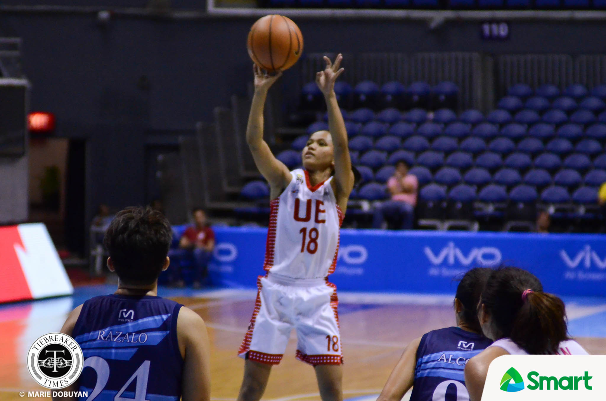 Tiebreaker Times UE regains form, sends Adamson to brink of elimination AdU Basketball News UAAP UE  UE Women's Basketball UAAP Season 80 Women's Basketball UAAP Season 80 Ruthlaine Tacula Love Sto. Domingo Kristeena Camacho John Kallos Christine Cortizano Aileen Lebornio Adamson Women's Basketball