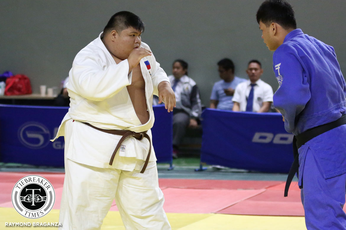 Tiebreaker Times Dither Tablan retains heavyweight crown as UST leads after Day 1 ADMU DLSU Judo News UAAP UE UP UST  UST Men's Judo UP Men's Judo UE Men's Judo UAAP Season 80 Men's Judo UAAP Season 80 Steve Esteban Renzo Cazenas Keith Reyes Harmon Tuazon DLSU Men's Judo Dither Tablan Ateneo Men's Judo
