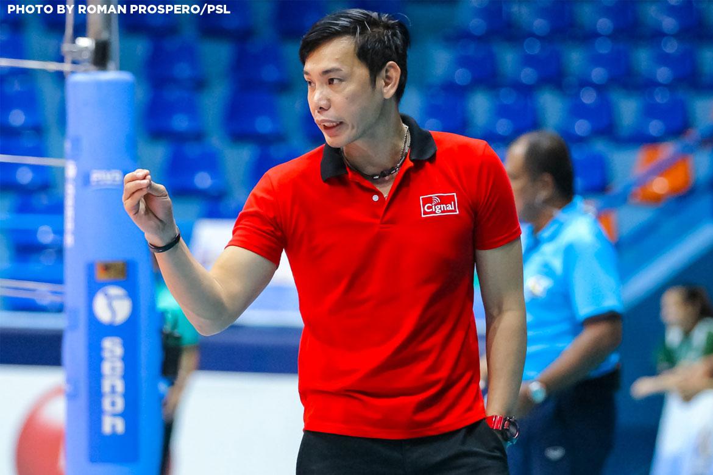 Philippine Sports News - Tiebreaker Times George Pascua still confident despite Cignal's slow start, injuries News PSL Volleyball  Rachel Daquis Cignal HD Spikers 2017 PSL Season 2017 PSL Grand Prix