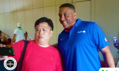 Tiebreaker Times PBA great Sean Chambers pays surprise visit to SMART Gilas 2019 FIBA World Cup Qualifiers Basketball Gilas Pilipinas News  Sean Chambers 2019 FIBA World Cup Qualifiers Group B