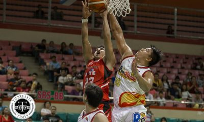 Philippine Sports News - Tiebreaker Times Beau Belga welcomes Raymar Jose with a block: 'Bata mo pa boy!' Basketball News PBA  Raymar Jose PBA Season 43 Blackwater Elite Beau Belga 2017-18 PBA Philippine Cup