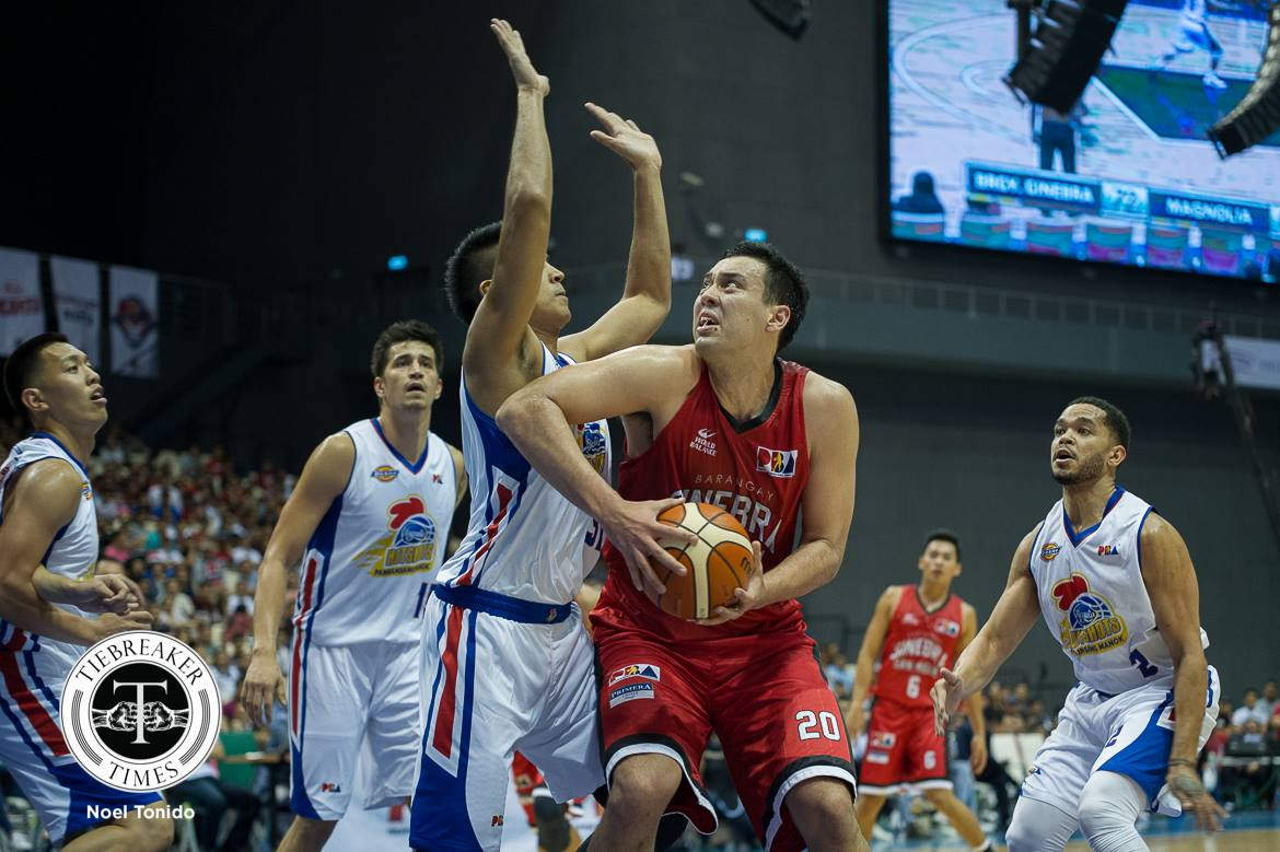 Philippine Sports News - Tiebreaker Times Player of the Week Greg Slaughter takes on bigger responsibility with Ginebra Basketball News PBA  PBA Season 43 PBA Player of the Week Greg Slaughter Barangay Ginebra San Miguel 2017-18 PBA Philippine Cup