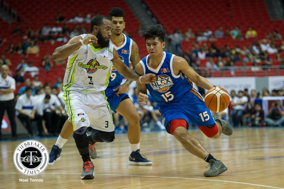 Philippine Sports News - Tiebreaker Times Kiefer Ravena continues to shine as NLEX books Christmas victory over GlobalPort Basketball News PBA  Yeng Guiao Stanley Pringle Sean Anthony Pido Jarencio PBA Season 43 NLEX Road Warriors Larry Fonacier Kiefer Ravena JR Quinahan Jonathan Grey Globalport Batang Pier 2017-18 PBA Philippine Cup