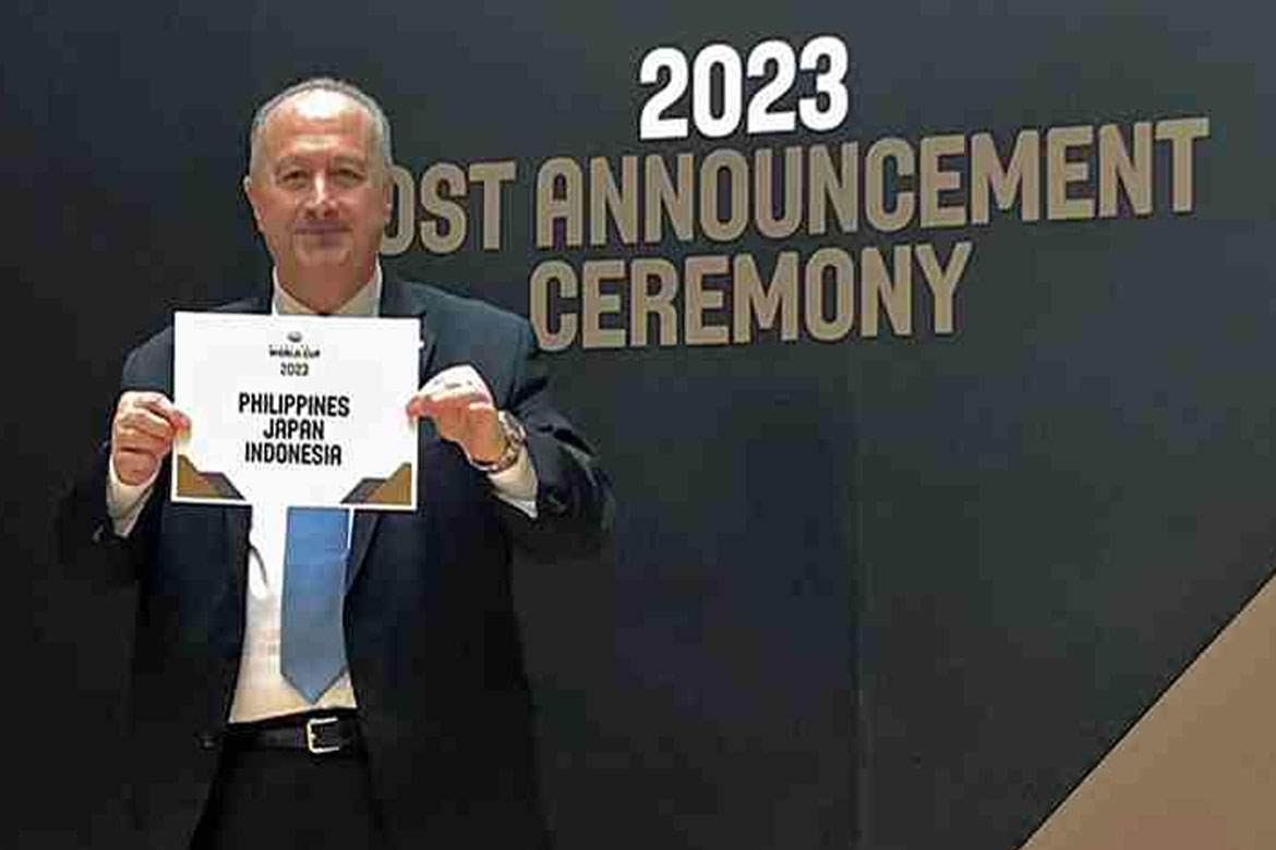 Tiebreaker Times Chot Reyes on 2023 FIBA World Cup hosting: 'Now the hard work begins' Basketball Gilas Pilipinas News  Chot Reyes 2023 FIBA World Cup