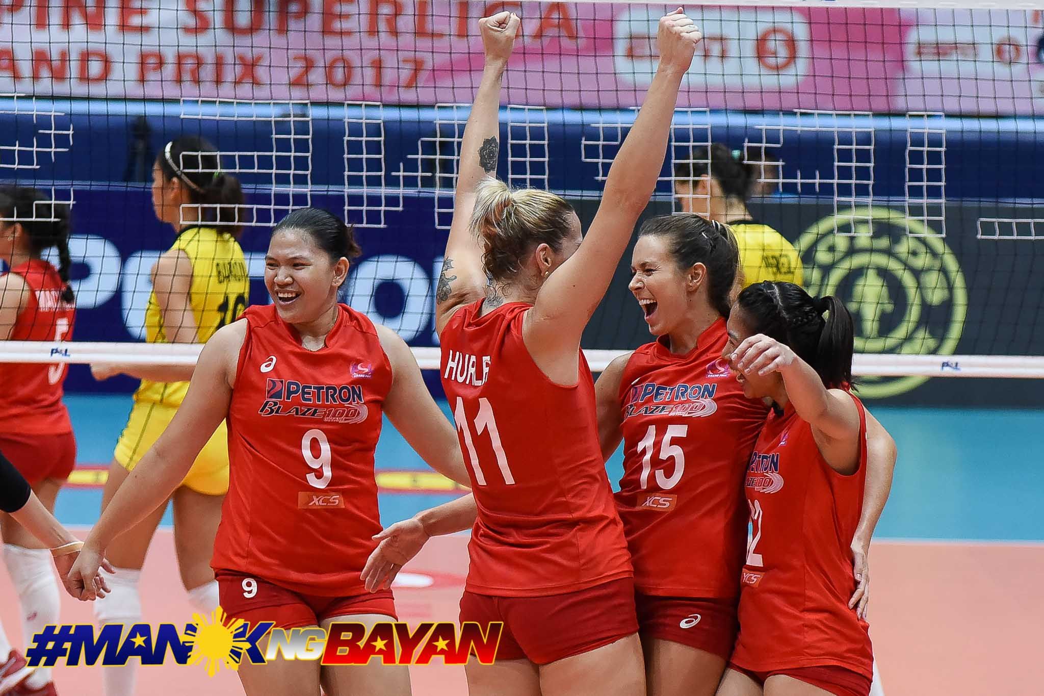 Philippine Sports News - Tiebreaker Times How all imports in the PSL Finals are connected News PSL Volleyball  Petron Blaze Spikers Maria Jose Perez Lindsay Stalzer Kennedy Bryan Hillary Hurley F2 Logistics Cargo Movers 2017 PSL Season 2017 PSL Grand Prix