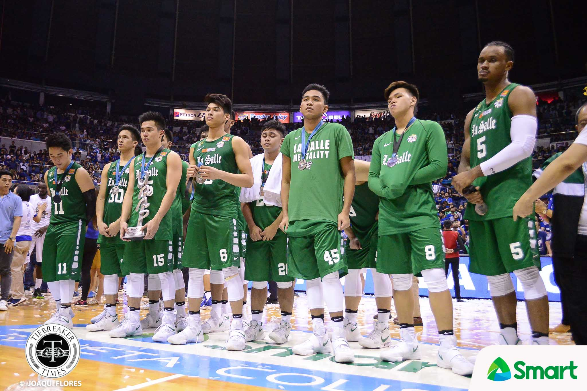 Philippine Sports News - Tiebreaker Times Ben Mbala reflects on Finals heartbreak: 'You can also learn by losing' Basketball DLSU News UAAP  UAAP Season 80 Men's Basketball UAAP Season 80 DLSU Men's Basketball Ben Mbala