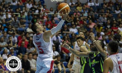Tiebreaker Times Ginebra completes comeback against Globalport for 2-0 start Basketball News PBA  Tim Cone Stanley Pringle Sean Anthony Scottie Thompson Pido Jarencio PBA Season 43 LA Tenorio Kelly Nabong Julian Sargent Jervy Cruz Japeth Aguilar Greg Slaughter Globalport Batang Pier Barangay Ginebra San Miguel Aljon Mariano 2017-18 PBA Philippine Cup