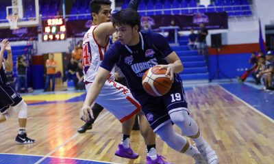 Tiebreaker Times Loaded Wangs-Letran wallops AMA in debut Basketball CSJL News PBA D-League  Wangs-Letran Knights Michael Canete Mark Herrera Kris Porter JP Calvo Jeff Napa Christian Fajarito Carlo Escalambre Bong Quinto Bonbon Batiller AMA Online Education Titans 2018 PBA D-League Season 2018 PBA D-League Aspirants Cup